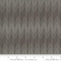 Moda Fabric - Smoke & Rust - Lella Boutique - Stone Broken Herringbone #5134 14