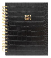Recollections - 2021 - 2022 Black Daily Spiral Planner - 12 Months (Dated, Daily)