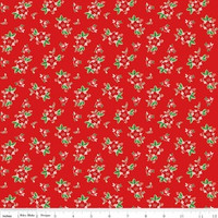 Riley Blake Fabric - Pixie Noel - Tasha Noel - Red #5254