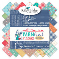 Riley Blake Fabrics - Charm Pack - Farm Girl Vintage by Lori Holt of Bee in my Bonnet