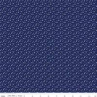 Riley Blake Fabric - Pixie Noel - Tasha Noel - Navy #5255