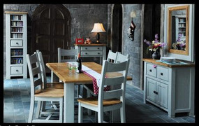 Danube French Grey Dining Set + 6 Chairs