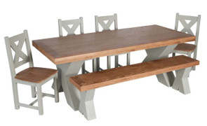 Maximus French Grey Dining Table-190 cm