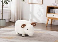 Susie Sheep Foot Stool-with Storage