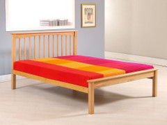 Sandra 4ft Small Double Bed  Solid Wood Beech Colour Bed