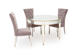Rosa Round Dining Set with Pembroke Chairs