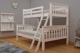 Dux Bunk Bed-3' & 4'6-White