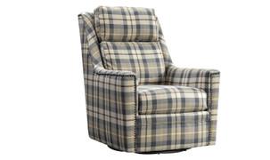 Canterbury Swivel Chair-Oxford Check