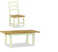 Suffolk Oak Small Butterfly Extension Set With 6 Chairs