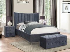 Aurora Grey 4'6 Bed