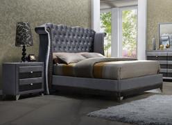 Jasmine 6' Bed-Grey