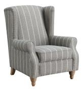 9054 Grey Stripe Armchair