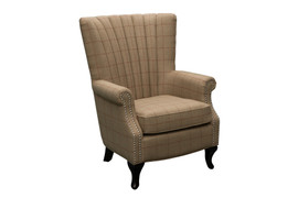 1510 Red Stripe Armchair