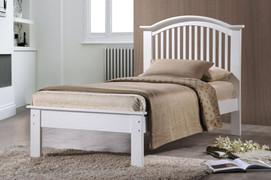 Milan White 3ft Single Bed