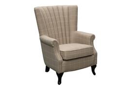 1510 White Stripe Armchair