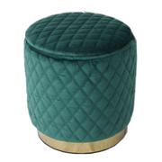18402 Footstool-Emerald Green