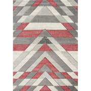 Asher Rug-Grey/Red (120/170 cm)