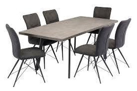 Amalfi Dining Set with 6 Chairs (160/200 cm)