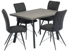 Amalfi Dining Set with 4 Chairs (120 cm)