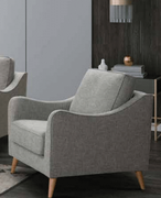 Robyn 1 Seater-Light Grey