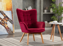 Kayla Occasional Chair-Viola Crimson