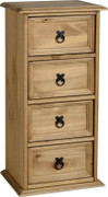 Corona 4 Drawer CD Chest