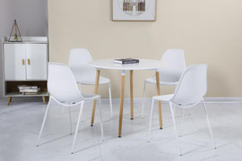 Lindon Dining Set-White/oak