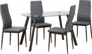 Abbey 47'' Dining Set-Grey
