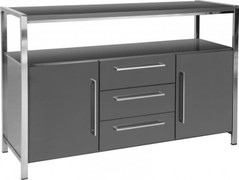 Charisma 2 Door 3 Drawer Sideboard- Grey