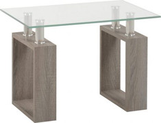 Milan Lamp Table-Grey