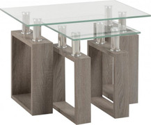 Milan Nest of  2 Tables-Grey