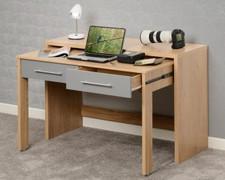 Seville 2 Drawer Slider Desk-Grey