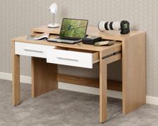 Seville 2 Drawer Slider Desk-White