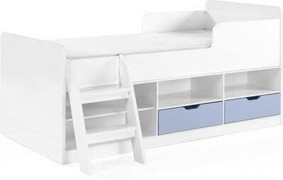 Jasper Low Sleeper Bed-Blue