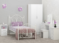 Annabel 3' Bed-White