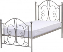 Annabel 3' Bed-Silver