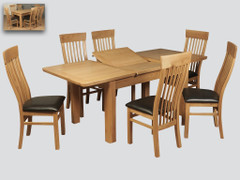 Treviso Oak Extension Dining Table (140 cm)