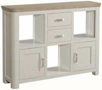Treviso Painted Low Display Unit With Metal Handles