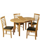 Hanover Light Oval Butterfly Extension Dining Set