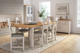 Amberly Dining Set (Ext. 140/180 cm )
