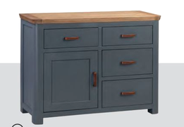 Treviso Painted Small Sideboard-Midnight Blue