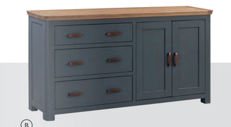 Treviso Painted Large Sideboard-Midnight Blue