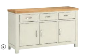 Andorra Painted 3 Door Sideboard
