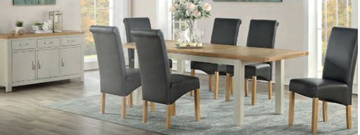Andorra Painted Ext. Dining Set With 6 Chairs