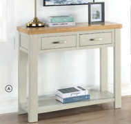 Andorra Painted  2 Drawer Console Table