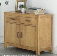Andorra Washed Oak 2 Door Sideboard