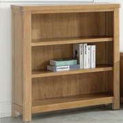 Andorra Washed Oak Low Bookcase
