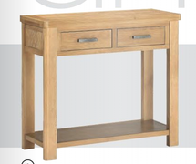 Andorra Washed Oak  2 Drawer Console Table