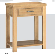 Andorra Washed Oak 1 Drawer Console Table