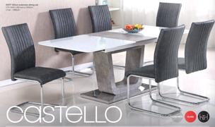 Castello Dining Set (160/200 cm)